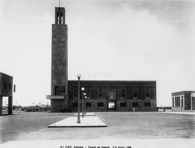 The City Hall in Sabaudia, Latina