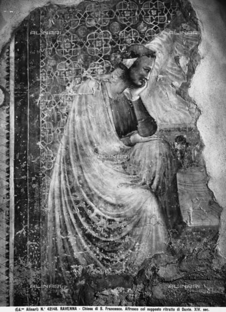 Male portrait, Church of St. Francesco, in Ravenna