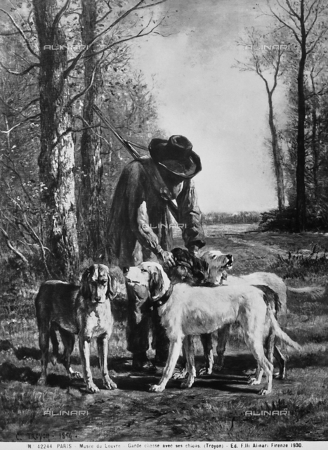 Gamekeeper with his dogs, Louvre Museum, Paris.