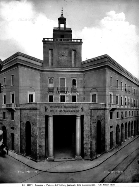 The building of the National Institute of Insurances, Cremona.