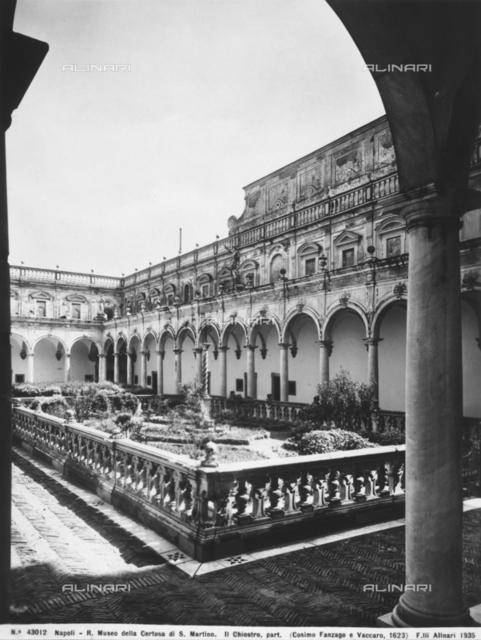 Large cloister of the Carthusian Monastery of San Martino, Naples
