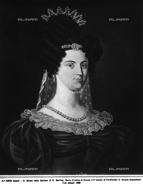 Portrait of Maria Cristina of Savoy, National Museum of San Martino, Naples