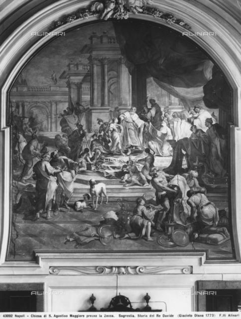 Story of King David, Sacristy, Church of Sant'Agostino della Zecca, Naples