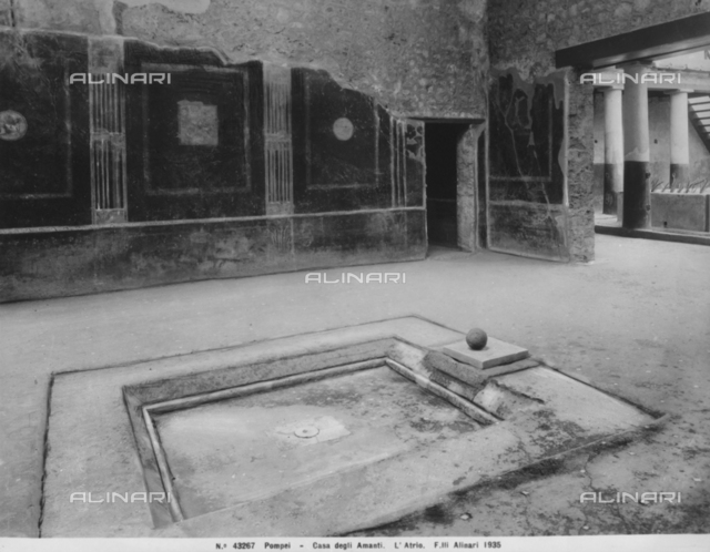 Atrium of the House of the Lovers in Pompeii