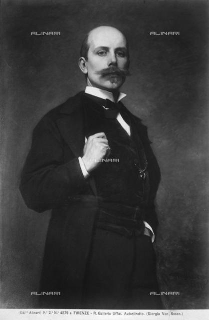 Self-portrait painting of Georg von Rosen