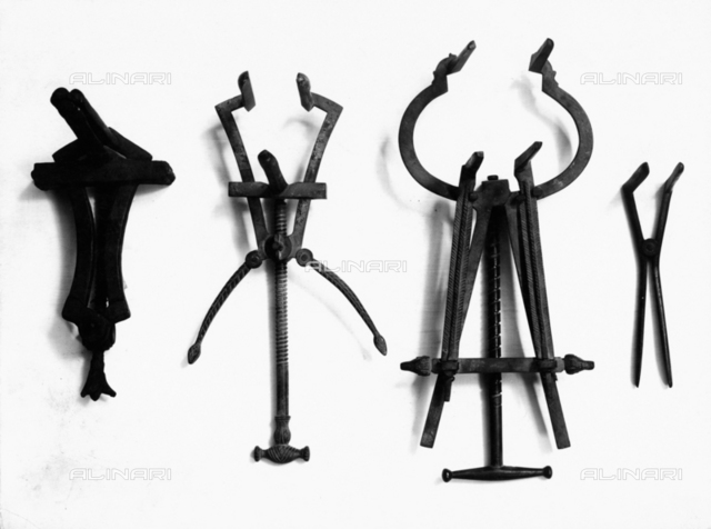 Iron surgical instruments, Archaeological Museum, Naples