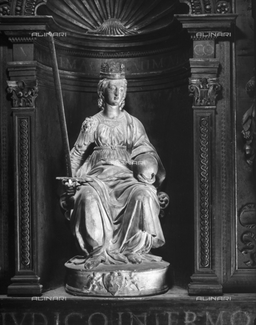Justice seated, Audience Chamber, Collegio del Cambio (Bankers' Guild), Perugia