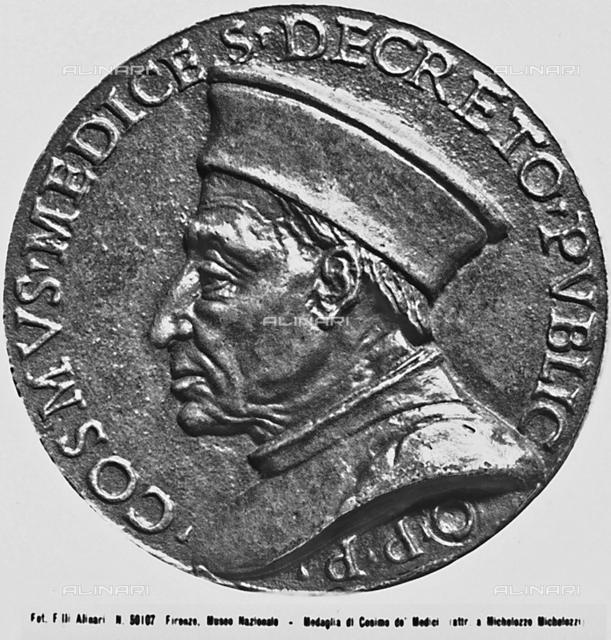Cosimo the Elder de'Medici, verso, Museo Nazionale del Bargello, Florence