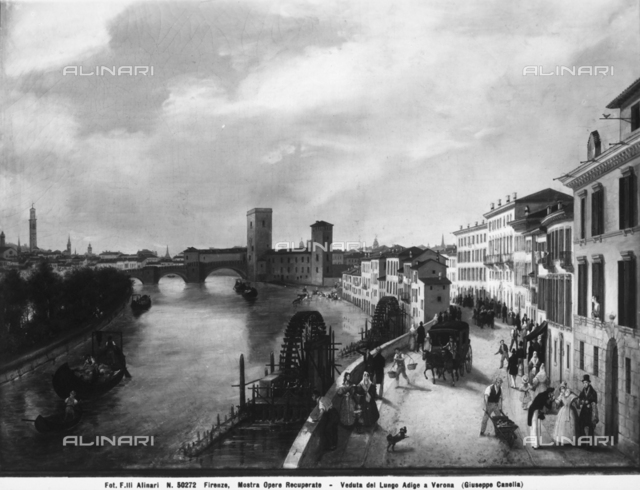View of Verona, by Giuseppe Canella
