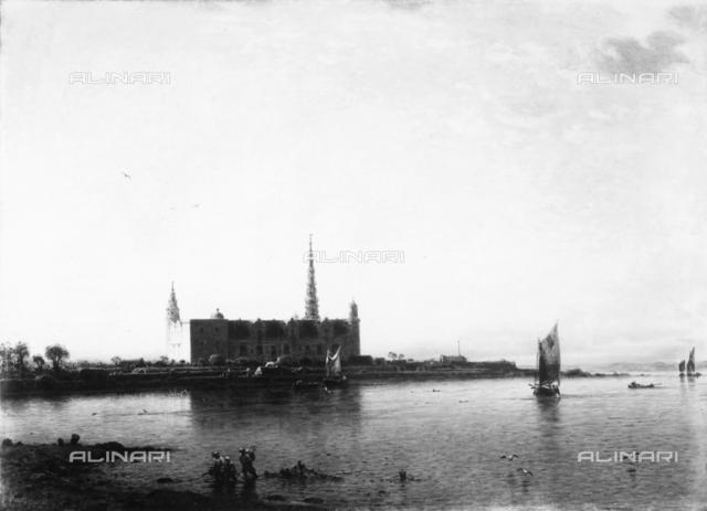 View of Kronborg Castle, painting