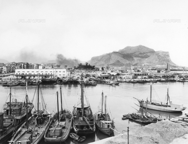 View of the port of Palermo