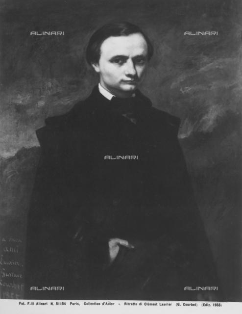 Portrait of Clèment Laurier, Courbet