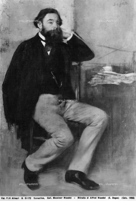Portrait of Alfred Niaudet, Edgar Degas