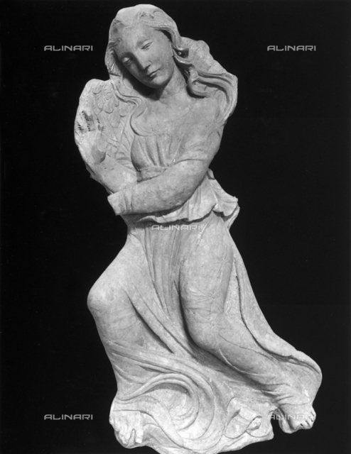 Angel, sculptural fragment from the Facade of the Majesty of the Vaults, 1473-1476, Agostino di Duccio (1418?1481 ca.), Galleria Nazionale dell'Umbria, Perugia
