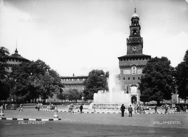 Tower dedicated to Umberto I, known as the Torre del Filarete, Castello Sforzesco, Milan
