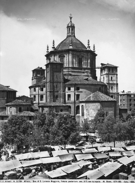 Tiburium, Martino Bassi, Church of San Lorenzo Maggiore, Milan