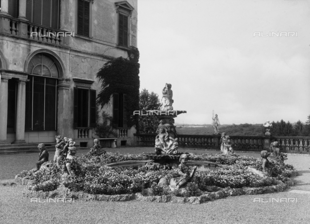 Fountain of the garden of Gallarati Scotti villa, Arcore, province of Milan