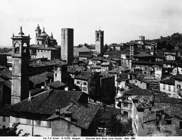 Panorama of Bergamo from la Rocca