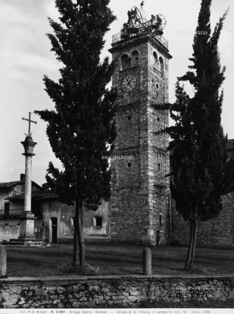 Bell tower of the Church of San Vittore, Arsago Seprio, Varese