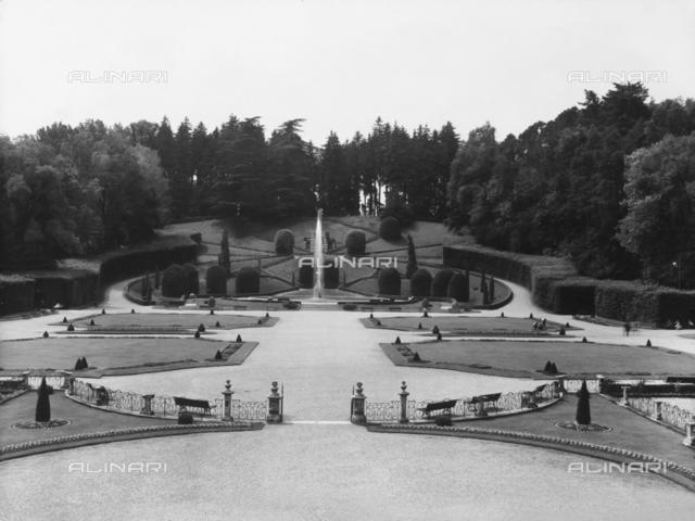 View of the Estensi Gardens in Varese
