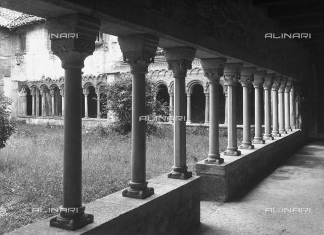 Cloister, Abbey of Saint Michael, Voltorre, Varese