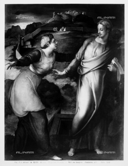 """Noli me tangere"". Work formerly attributed to Pontormo"