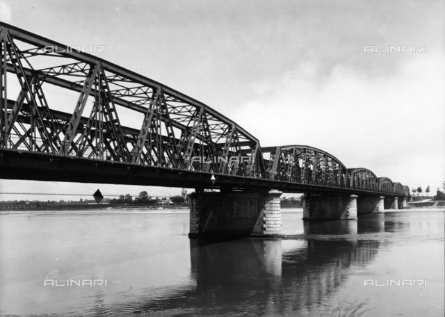 Iron Bridge over the Po River