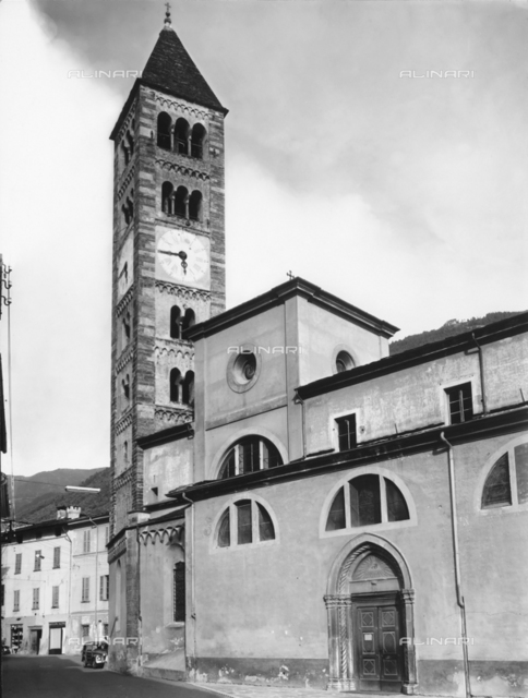 Bell tower, Church of St. Martin, Tirano, Sondrio.