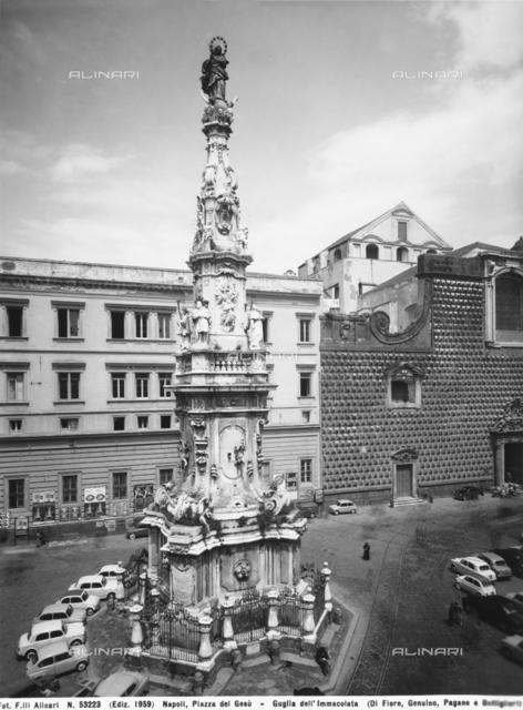 Guglia (spire) dell'Immacolata, Piazza del Gesù Nuovo, Naples