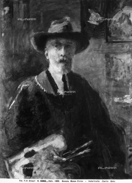 Self-portrait of Emilio Gola