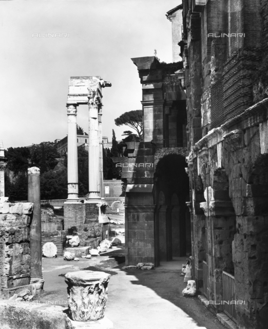 Remains of the Temple of Apollo Sosianus in Rome