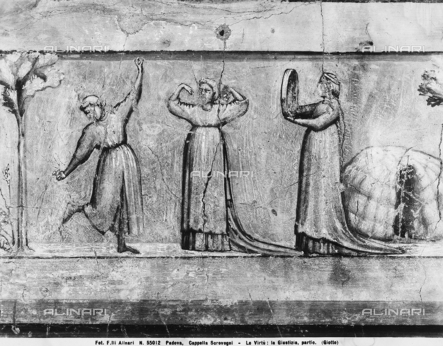 Justice, detail, Scrovegni Chapel, Padua