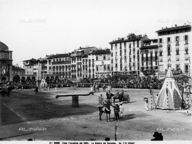 The Saracen Tournament in piazza Santa Maria Novella, Florence