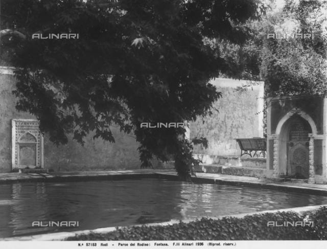 A fountain in the Rodino park in Rhodes