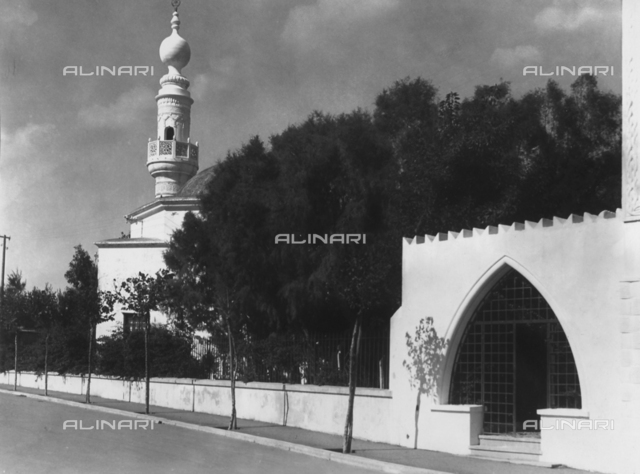 Outside of the Mosque of Murad Reis on the island of Rhodes, planned by Florestano di Fausto
