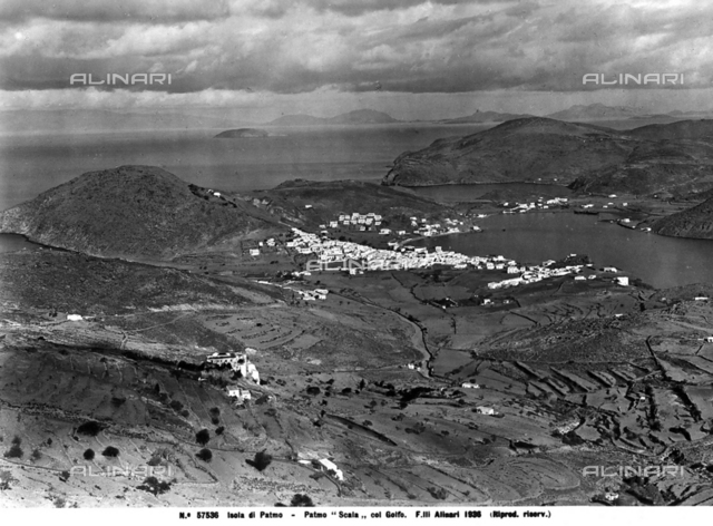 Aerial view of the island of Patmos.