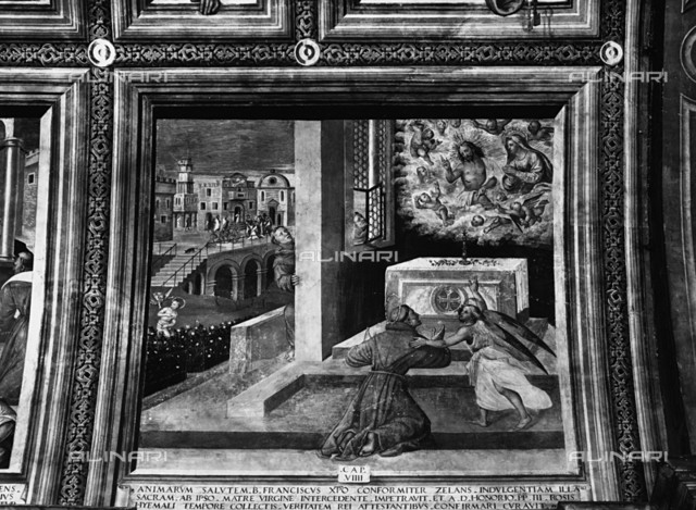 Jesus Christ appears to St.Francis, first chapel, Church of San Bernardino, Verona
