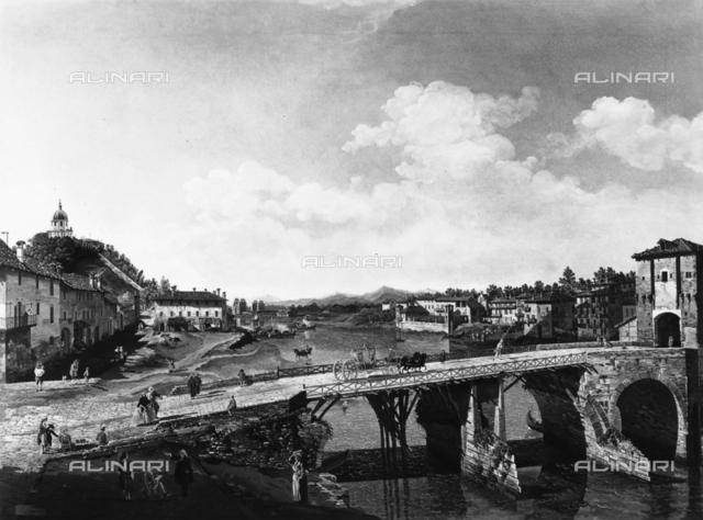 Ancient bridge over the Po, Galleria Sabauda, Turin