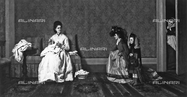 Children playing dress-up, Private collection, Milan