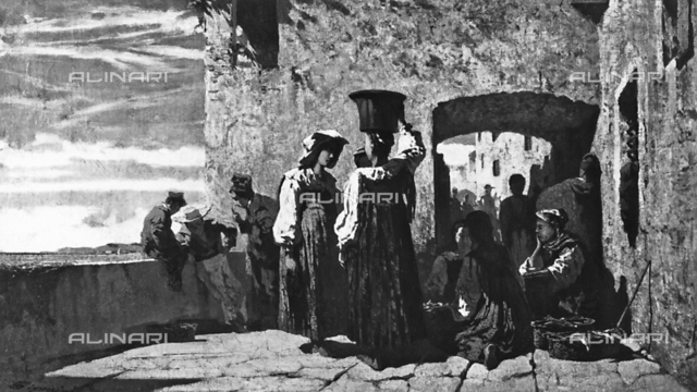 Fish vendors in Lerici, Private collection, Milan