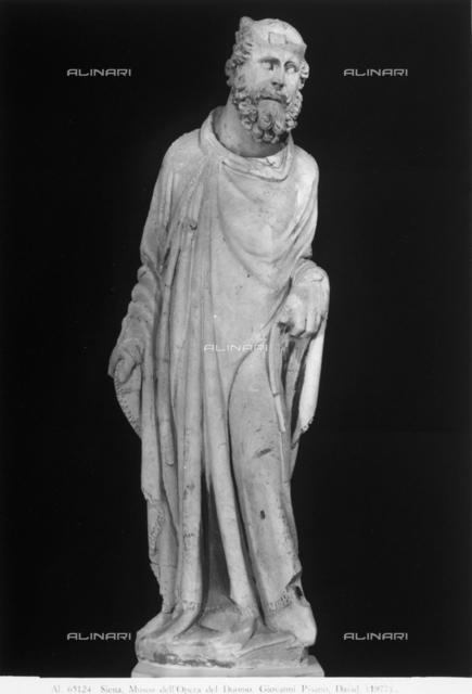 Statue of David, Museo dell'Opera Metropolitana, Siena