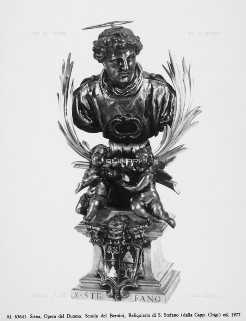 Reliquary of St. Stephen from the Chigi Chapel in the Cathedral of Siena, School of Gian Lorenzo Bernini, Museo dell'Opera Metropolitana, Siena