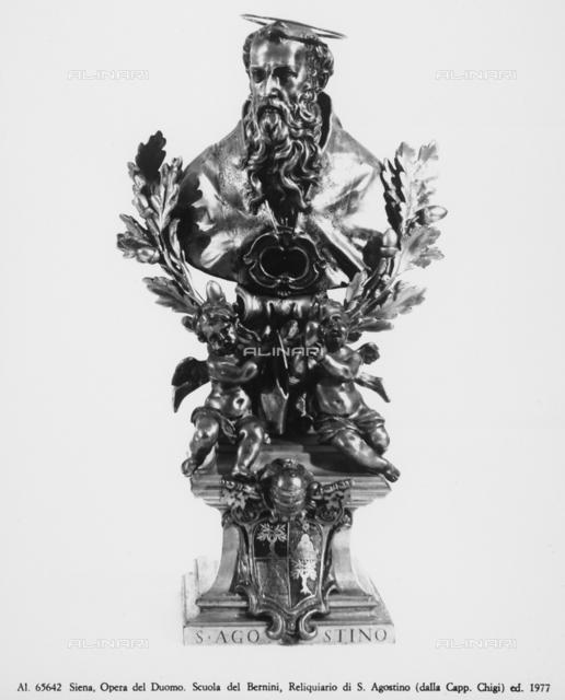 Reliquary of St Augustine from Chigi Chapel in Siena Cathedral, Gian Lorenz Bernini School, Museo dell'Opera Metropolitana, Siena