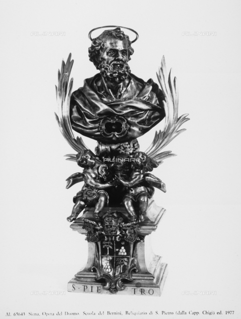 Reliquary of St. Peter from the Chigi Chapel in the Cathedral of Siena, School of Gian Lorenzo Bernini, Museo dell'Opera Metropolitana, Siena
