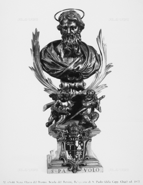 Reliquary of St Paul from Chigi Chapel in Siena Cathedral, school of Gian Lorenzo Bernini, Museo dell'Opera Metropolitana in Siena
