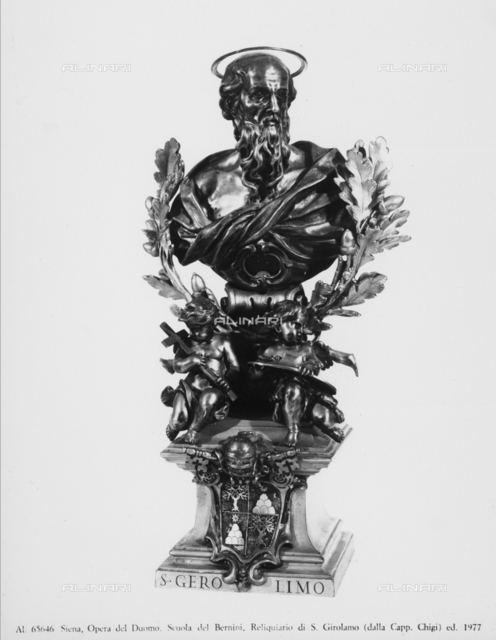 Reliquary of St. Jerome from the Chigi Chapel in the Cathedral of Siena, School of Gian Lorenzo Bernini, Museo dell'Opera Metropolitana, Siena