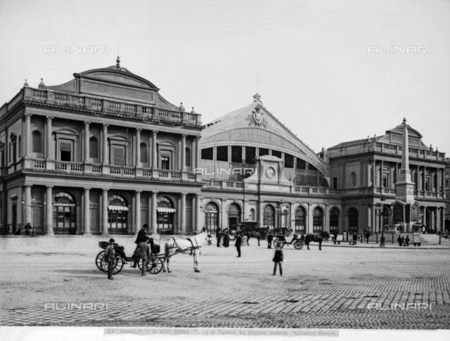 Termini railway station designed by Salvatore Bianchi, Rome