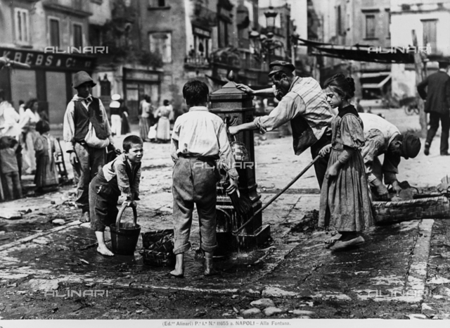 At the fountain, Naples