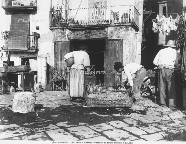 Water sellers in Santa Lucia, near Naples
