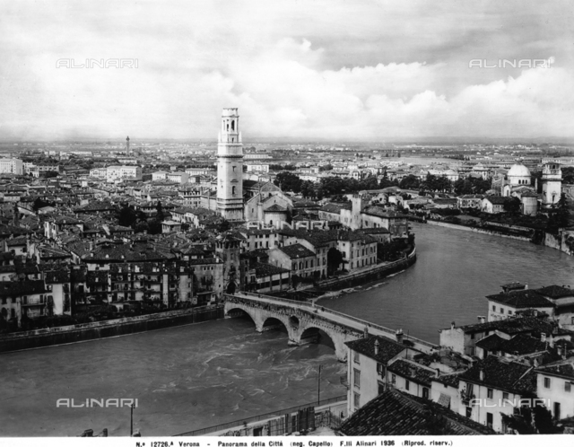 Panorama of the city of Verona